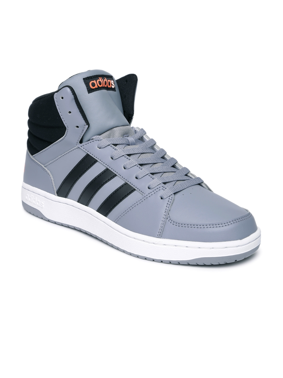buy adidas neo men grey vs hoops solid mid top sneakers casual