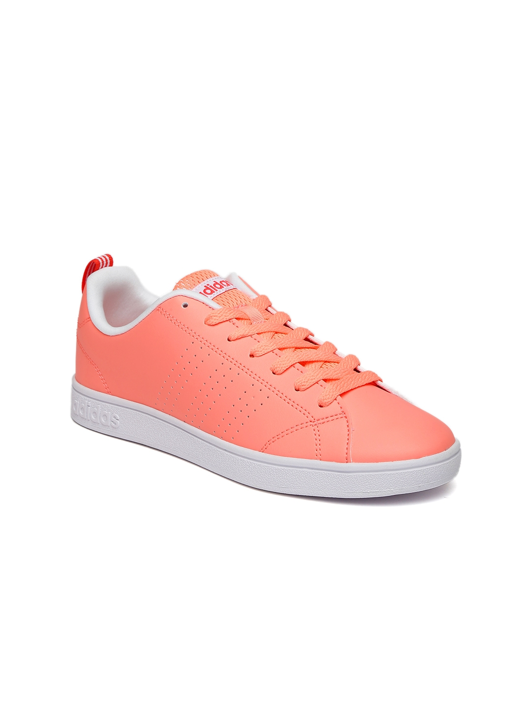 Pink Red Adidas Skate Shoes