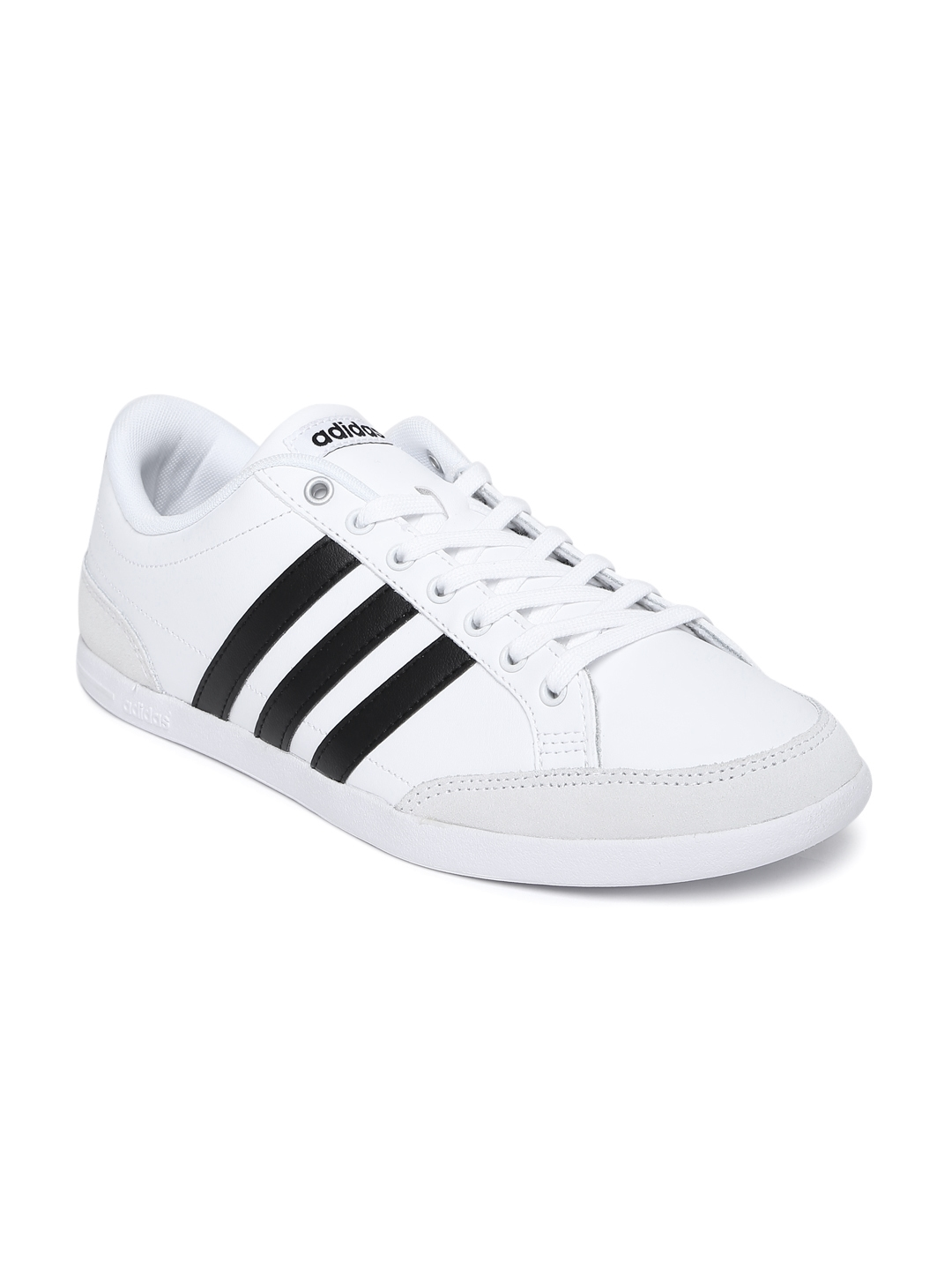 quality design 5033c 9a99c ADIDAS NEO Men White Solid Leather Caflaire Sneakers