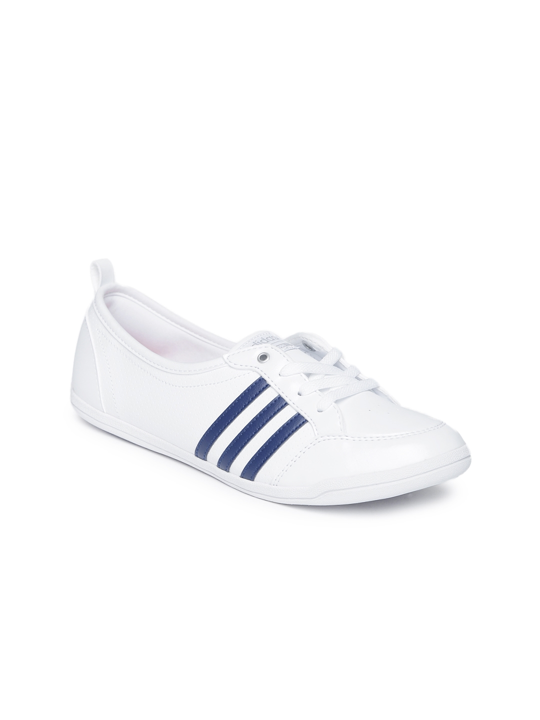 best service ceb2a 97bbf ADIDAS NEO Women White Perforations Cloudfoam Piona Sneakers