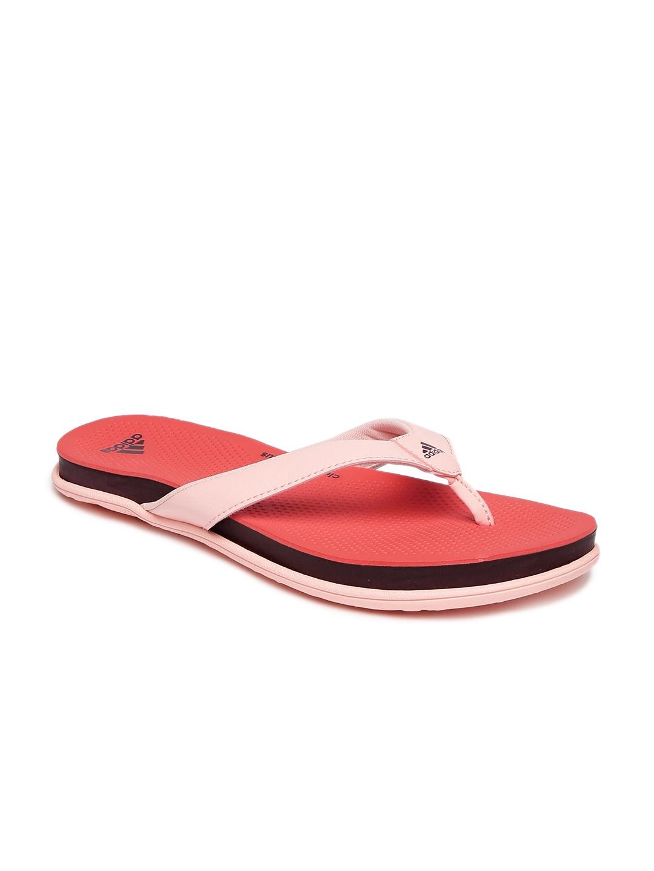 8f602d367 Buy ADIDAS Women Pink   Orange Cloudfoam Plus Flip Flops - Flip ...