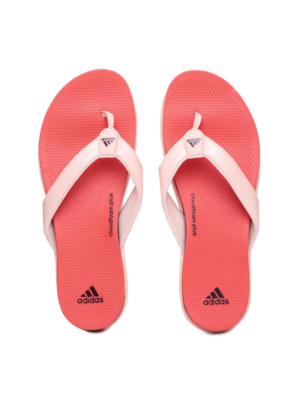 766ce0e0a Buy ADIDAS Women Pink   Orange Cloudfoam Plus Flip Flops - Flip Flops for  Women 1731243