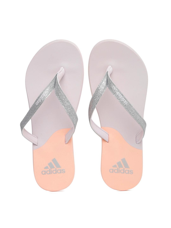 26ccf70d3369a1 Buy ADIDAS Women Silver Toned   Lavender Eezay Glitter W Colourblocked    Shimmery Flip Flops - Flip Flops for Women 1731245