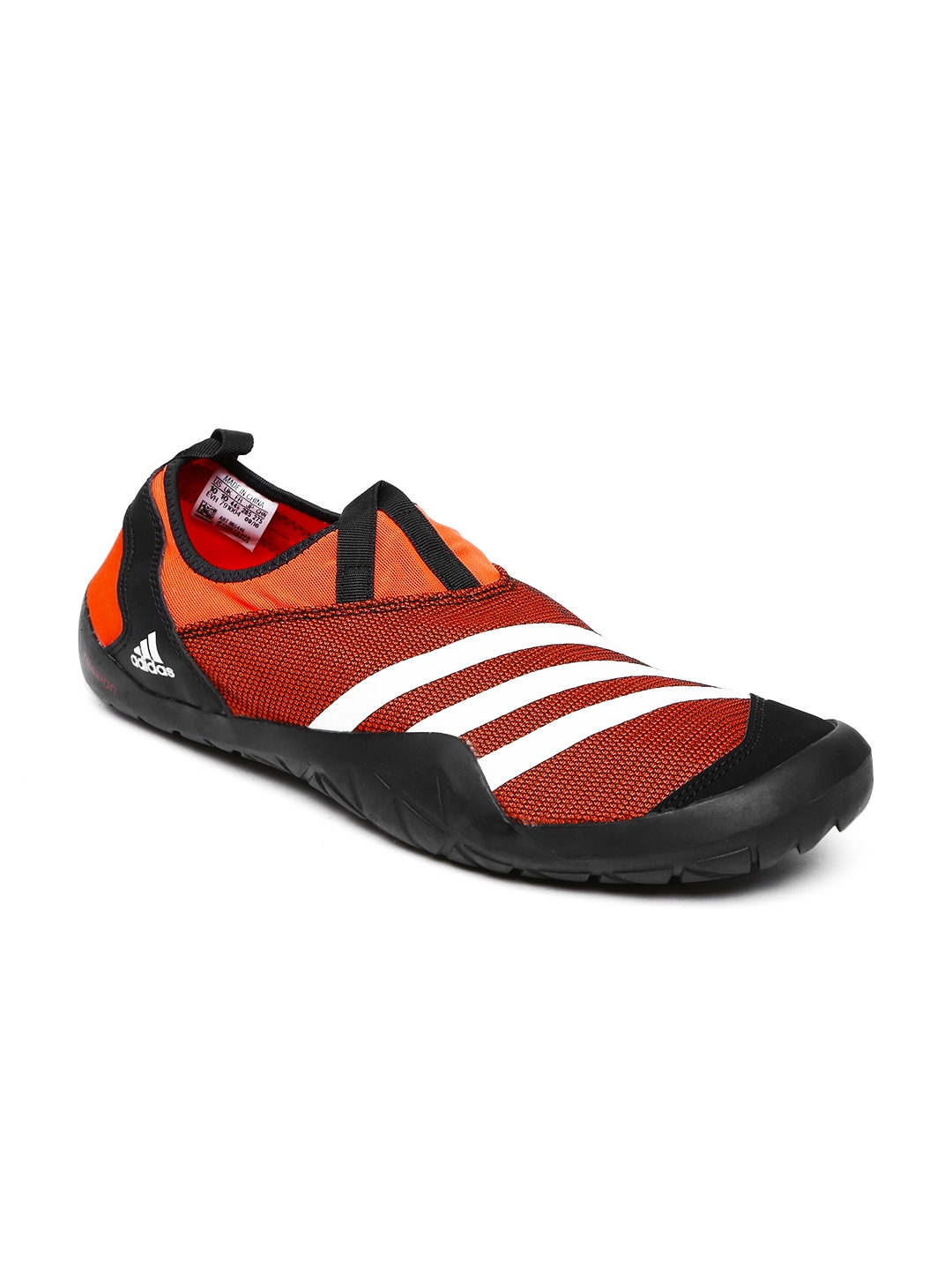 new arrival 3783e e295a ADIDAS Unisex Orange Climacool Jawpaw Textured Slip-On Sneakers