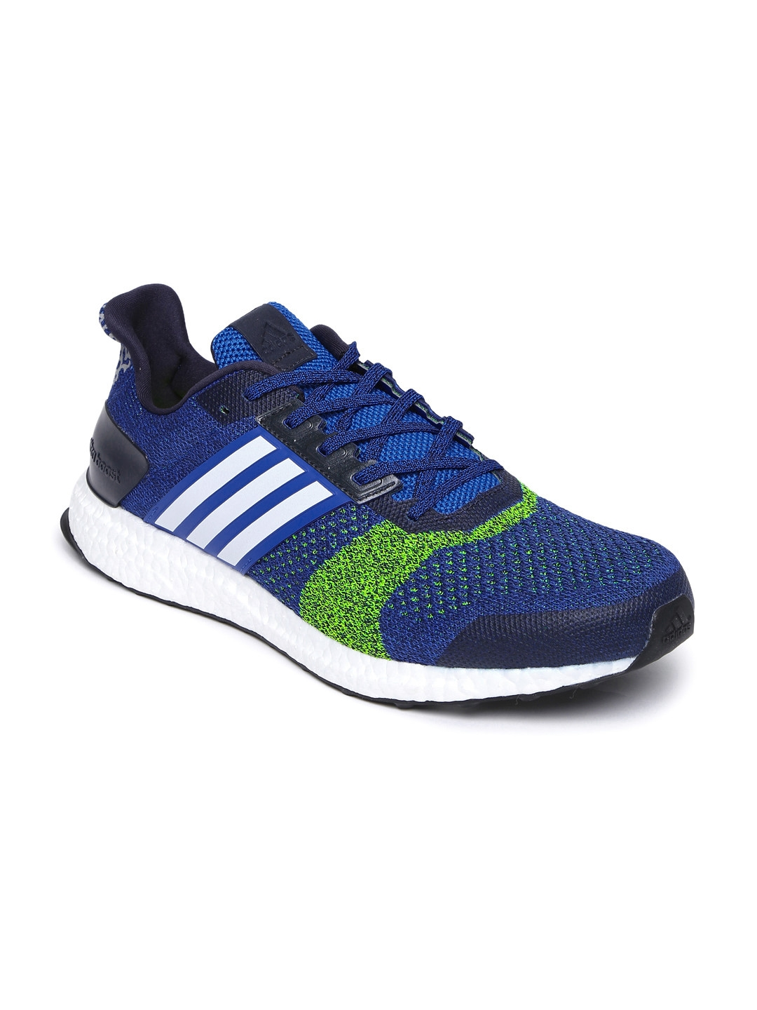 838b2cdd6 Buy ADIDAS Men Blue   Green Ultra Boost ST M Running Shoes - Sports ...