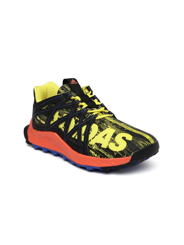 9b3762b8a6a9e Buy ADIDAS Kids Black   Yellow Vigor Bounce J Running Shoes - Sports ...