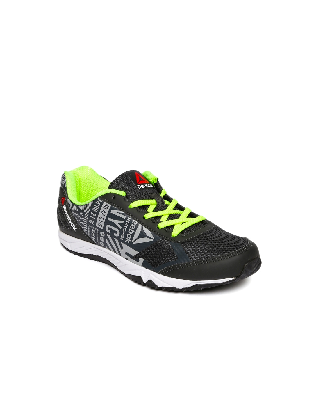 new selection best selling perfect quality Buy Reebok Girls Charcoal Printed Run Voyager Running Shoes ...