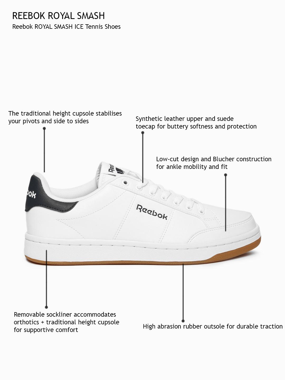 4686e09b930a Buy Reebok Men White Solid Royal Smash Regular Sneakers - Casual ...