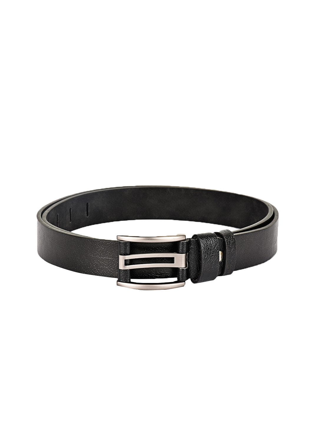 BuckleUp Men Black Leather Belt