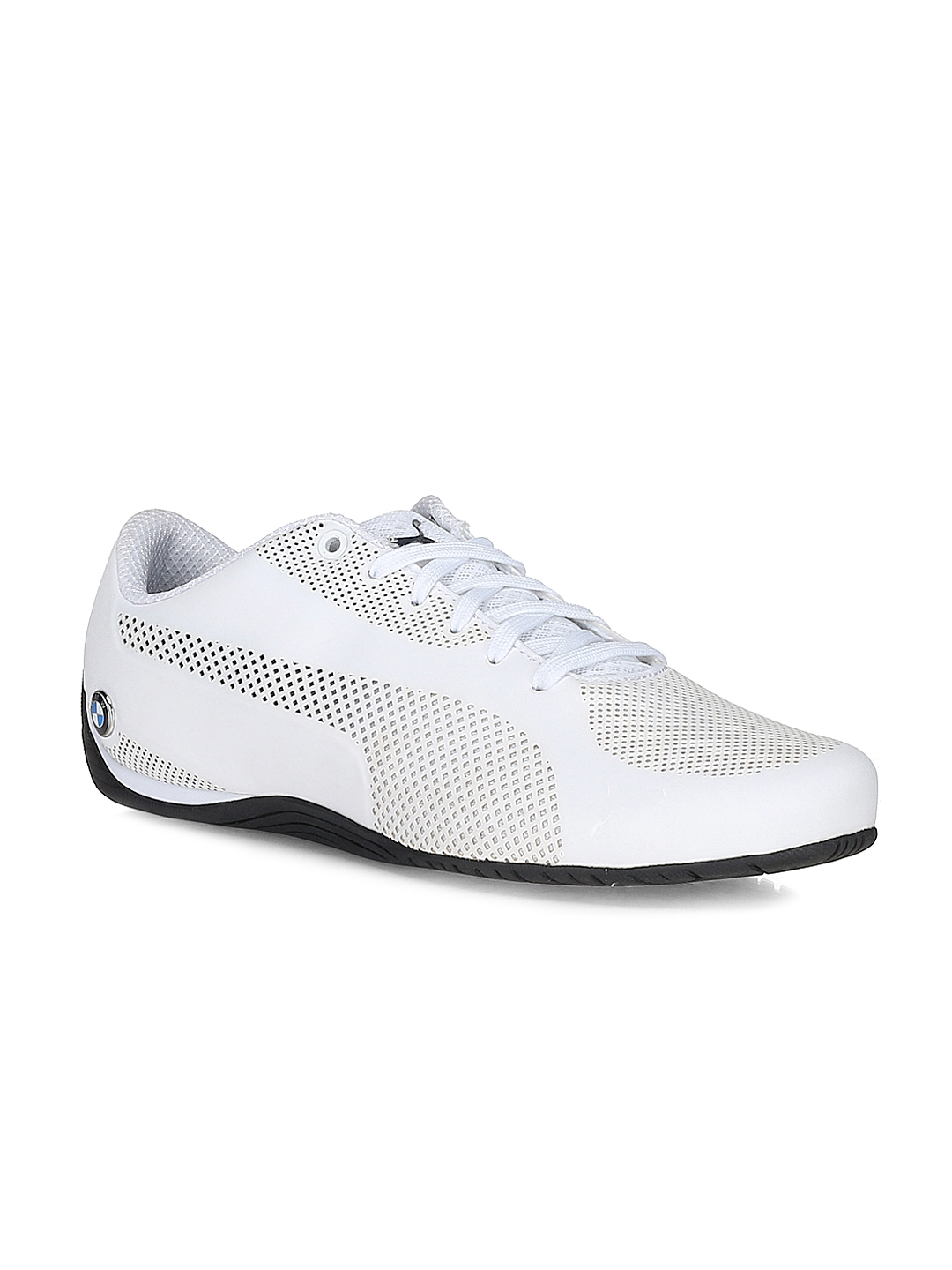 Buy Puma Unisex White BMW MS Drift Cat 5 Ultra Solid Sneakers ... 5e274dad8