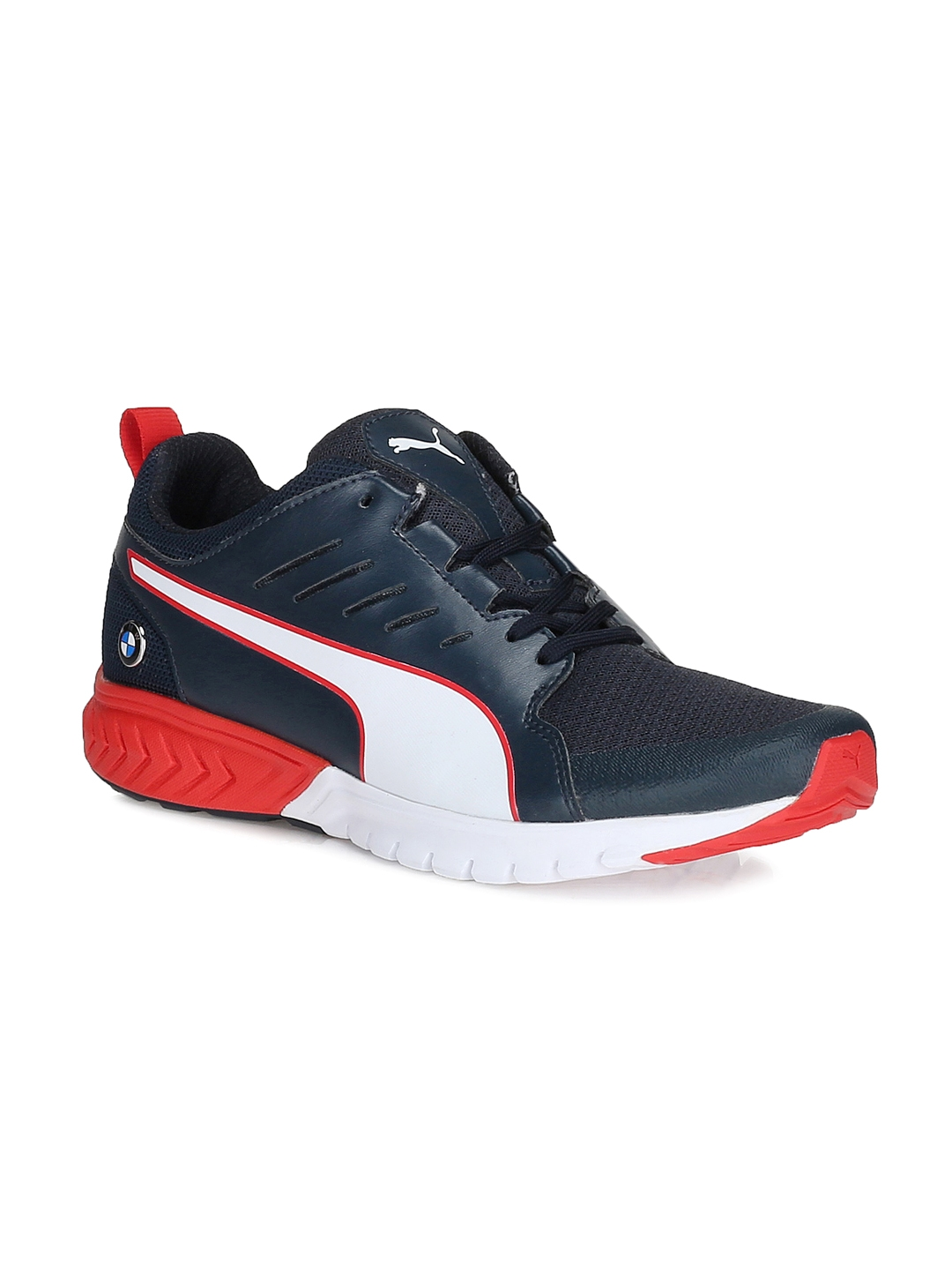 Buy PUMA Men Navy BMW MS Pitlane Ignite Dual Solid Sneakers - Casual ... 443b5d966