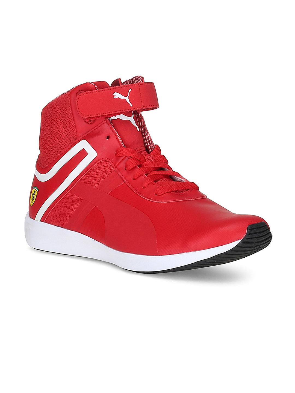 ed84de1cc92 Buy PUMA Men Red Mid Top SF F116 Sneakers - Casual Shoes for Men 1735335