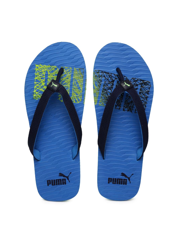 e4daf8826b25e Buy Puma Unisex Blue Miami Fashion II DP Printed Flip Flops - Flip ...