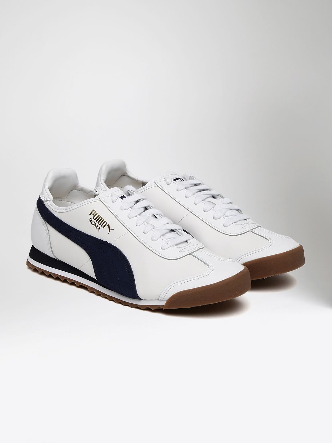 d52fc01b8ef Buy Puma Men White   Navy Roma OG 80s Sneakers - Casual Shoes for ...