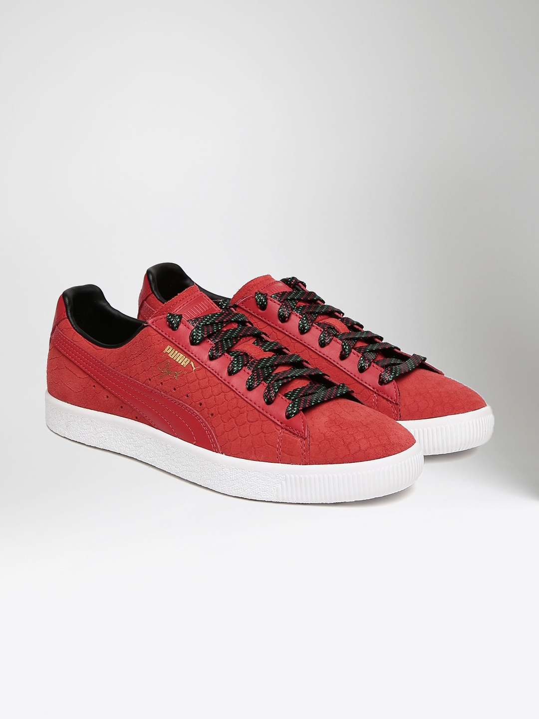 2185780fe24f Buy Puma Men Red Clyde GCC Patterned Leather Sneakers - Casual Shoes ...