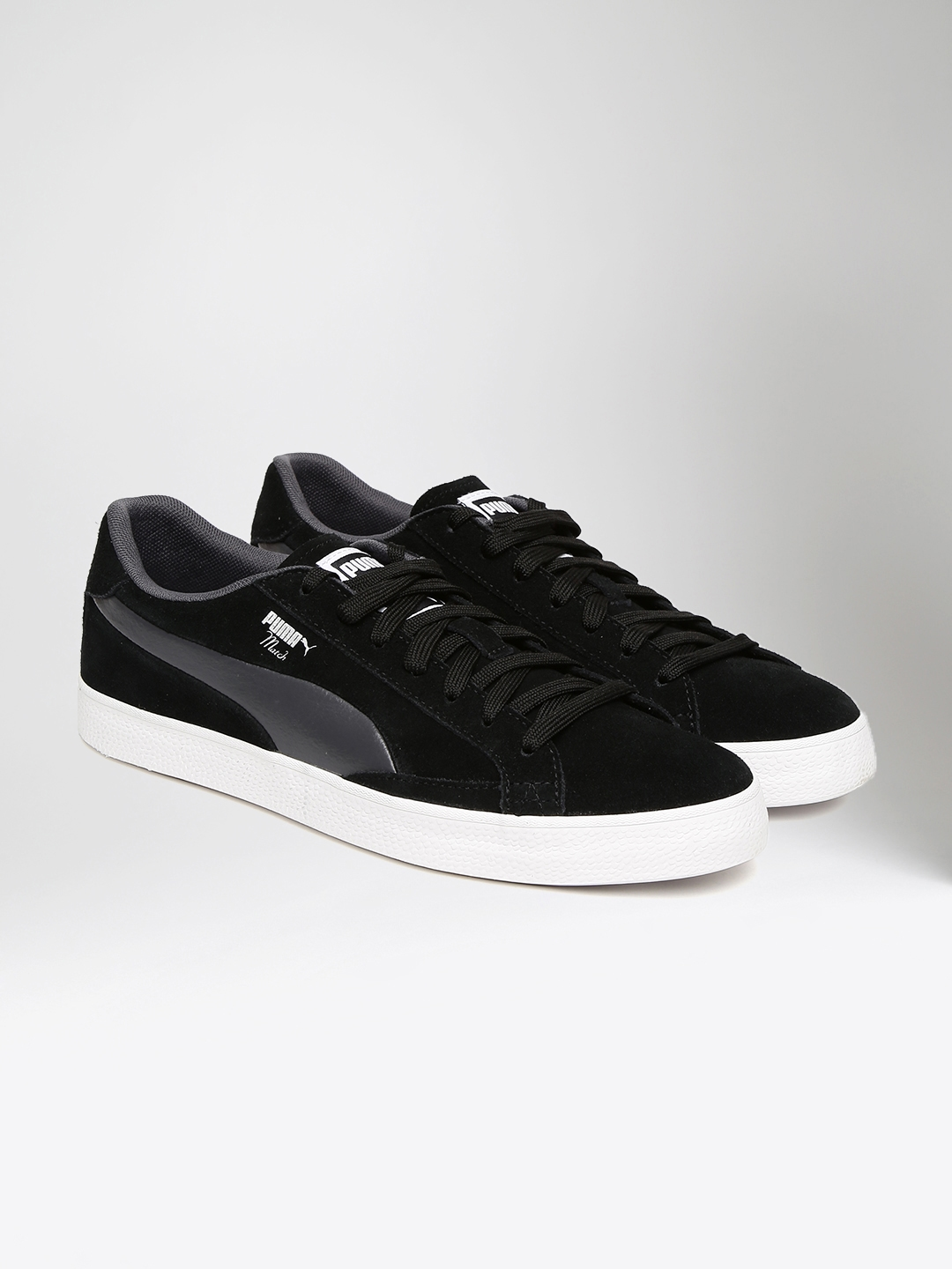 b6d406b144f654 Buy Puma Men Black Match Vulc 2 Suede Sneakers - Casual Shoes for ...
