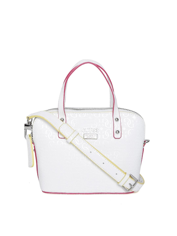 6bc3b0230b Buy GUESS White Textured Handheld Bag - Handbags for Women 1738165 ...