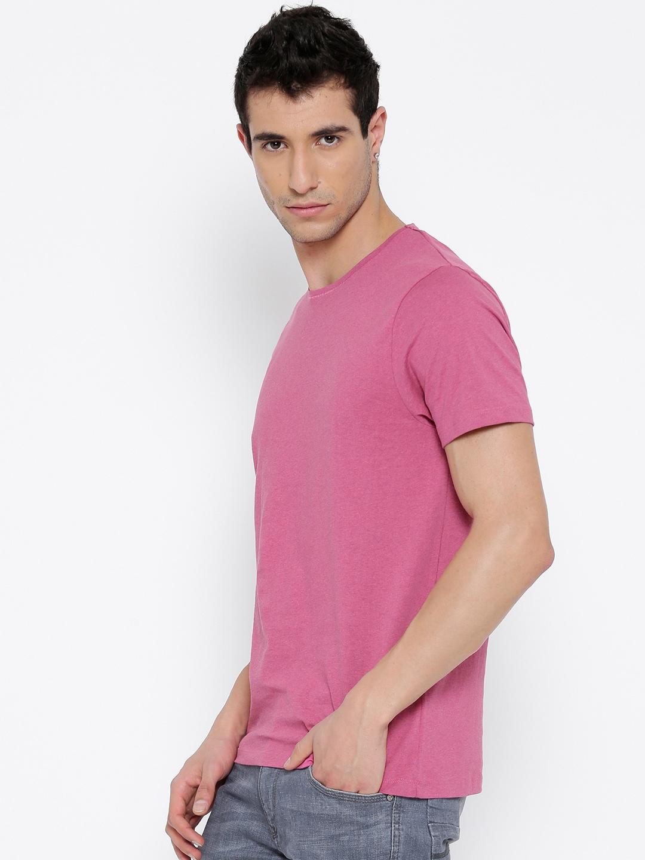 9e82461c Buy Jack & Jones Men Pink Solid Round Neck T Shirt - Tshirts for Men ...