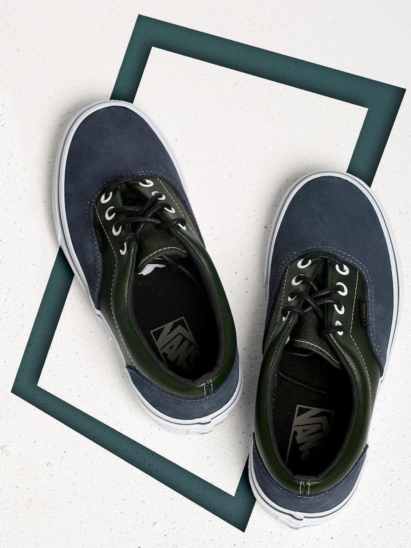 5fa924f25f Buy Vans Unisex Navy Blue Colourblocked ERA Suede Sneakers - Casual ...