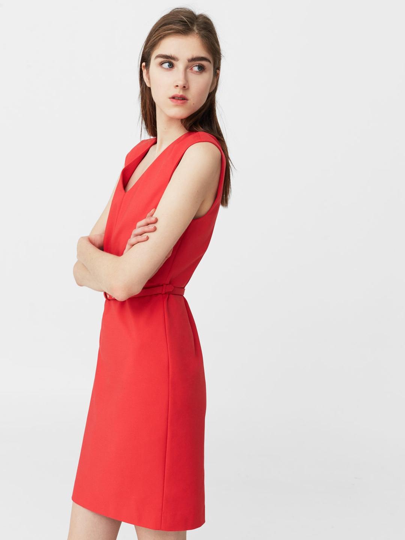 ff1215aa6 Buy MANGO Women Red Solid Sheath Dress - Dresses for Women 1740396 ...