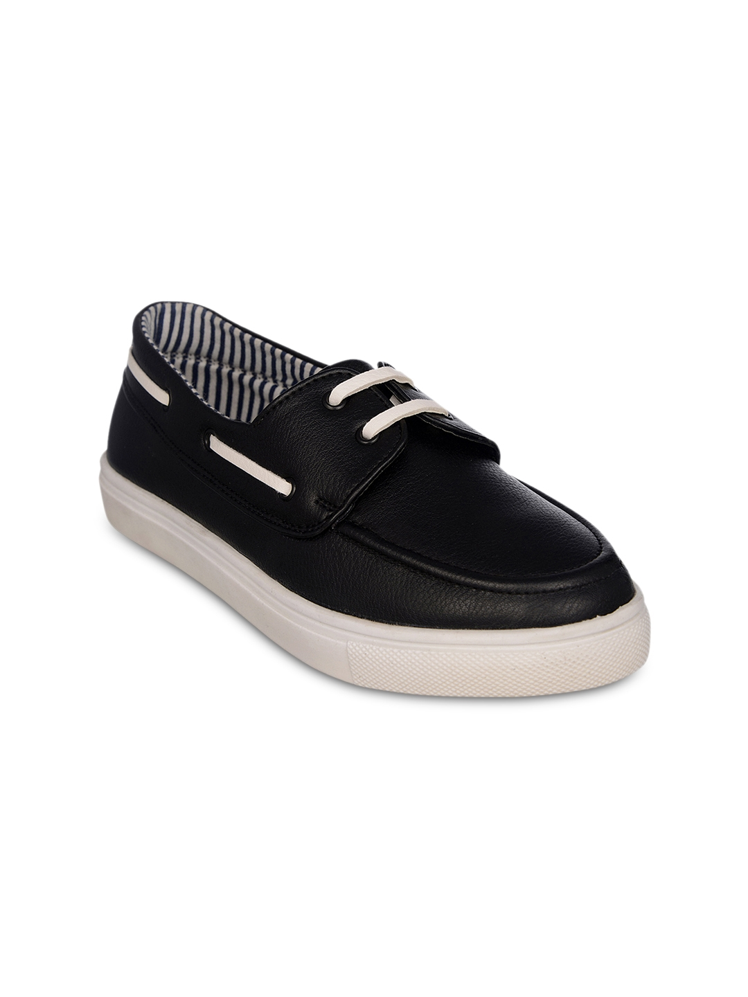 77c3b7b6d Buy Bruno Manetti Women Black Solid Boat Shoes - Casual Shoes for ...