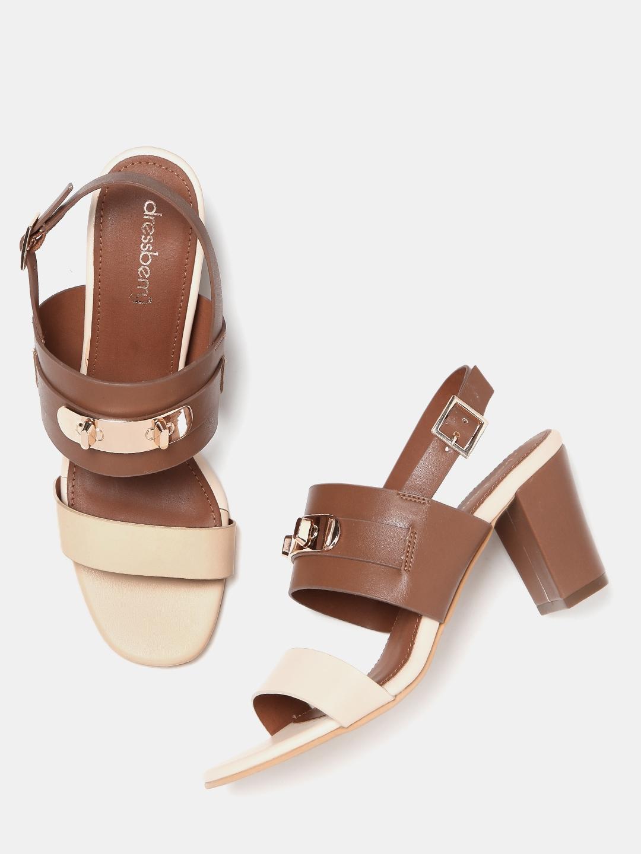 037b4a5a8cf9 Buy DressBerry Women Brown Block Heels - Heels for Women 1740854 ...