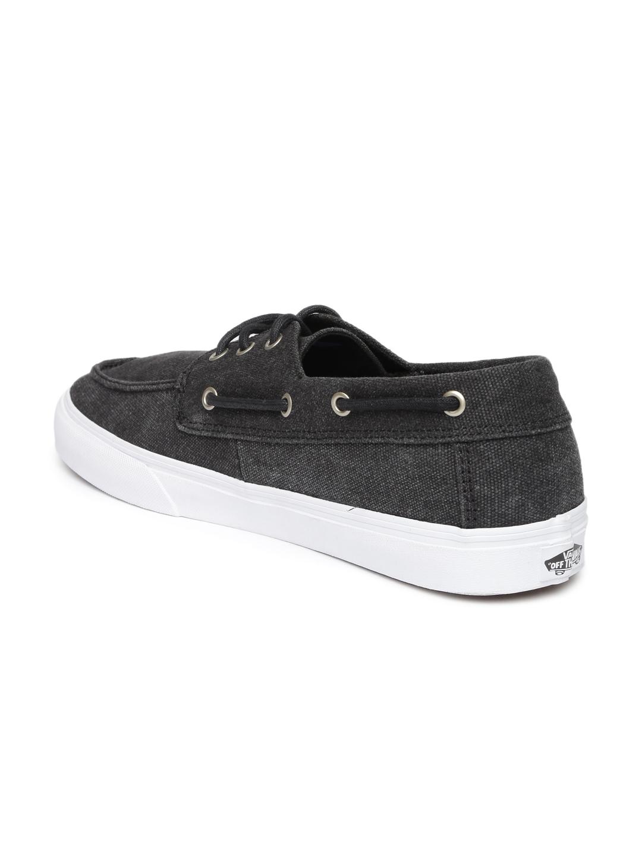 4d8733e855d649 Buy Vans Men Black Solid Chauffeur SF Regular Boat Shoes - Casual ...