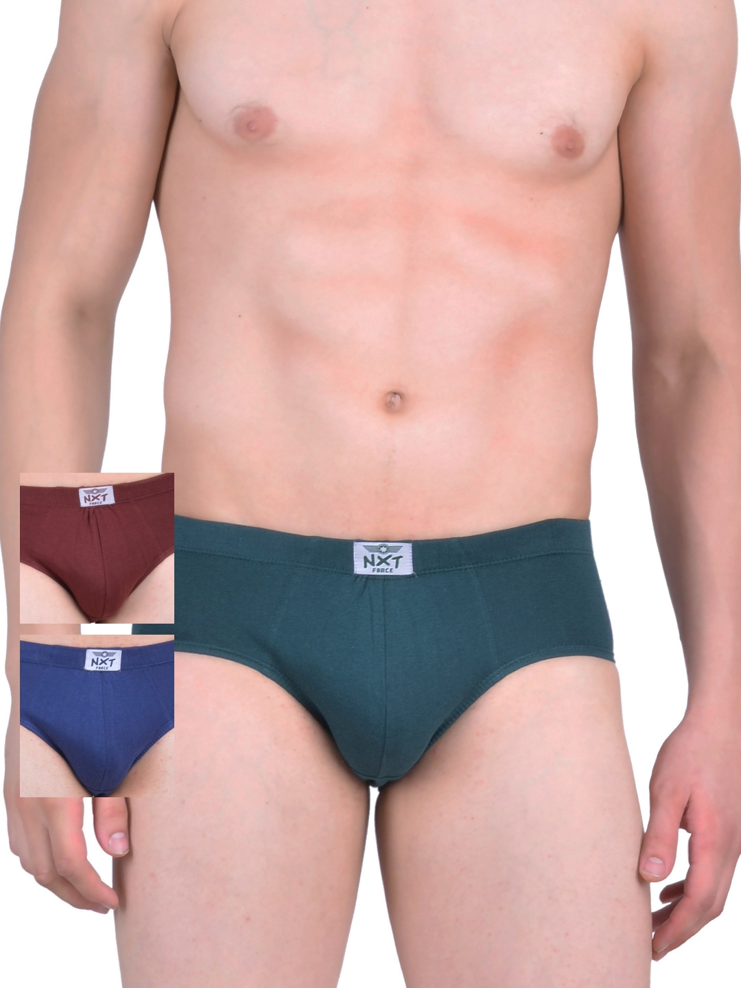 Force NXT Men Pack of 3 Assorted Briefs MNFF 101