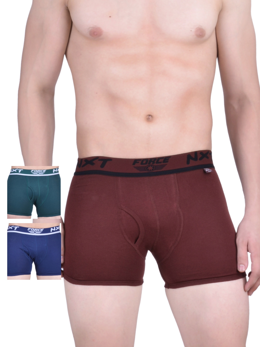 Force NXT Men Pack of 3 Assorted Trunks MNFF 131
