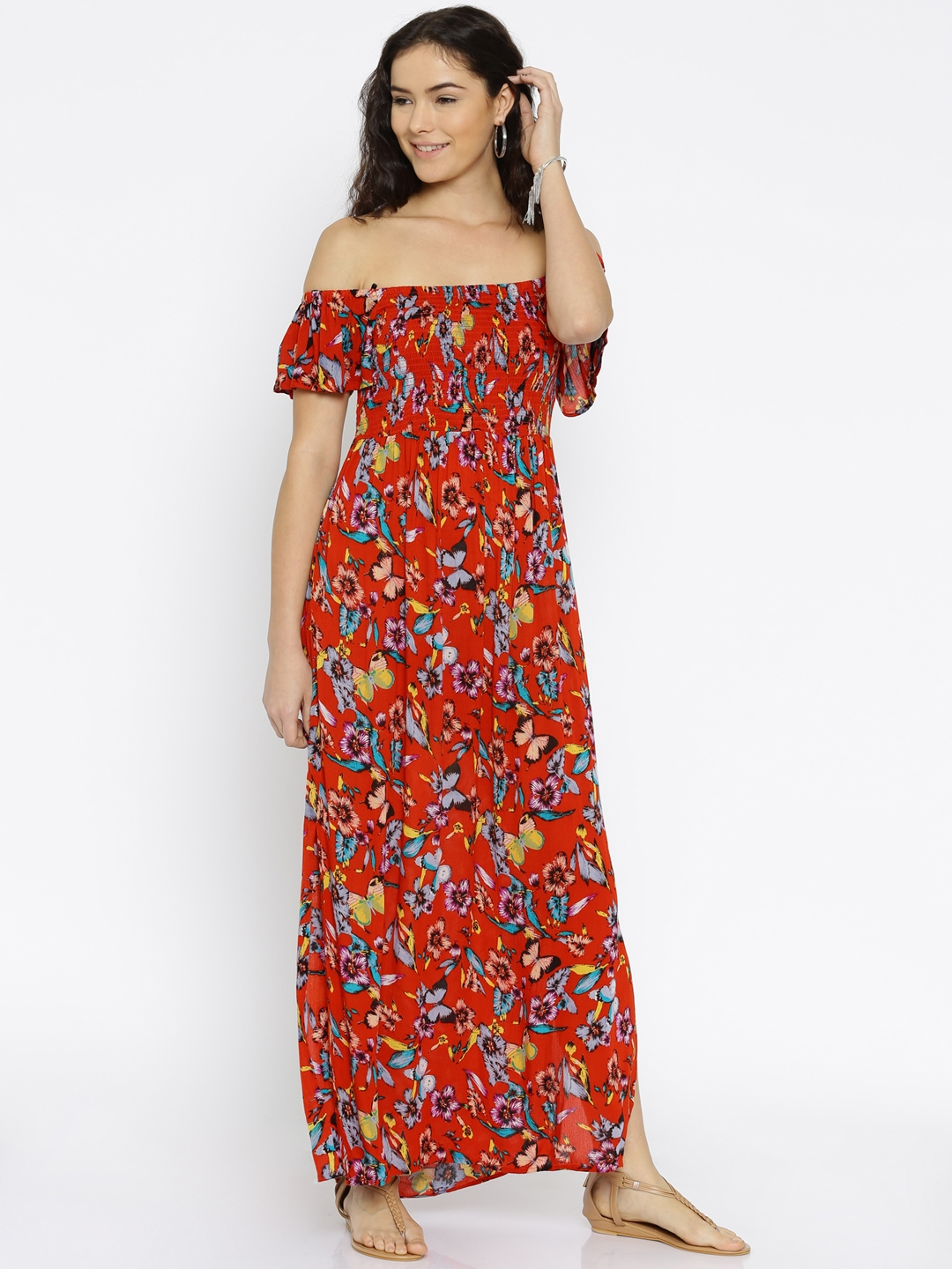 8d7151ee3f5 Buy ONLY Red Floral Print Maxi Dress - Dresses for Women 1741946 ...
