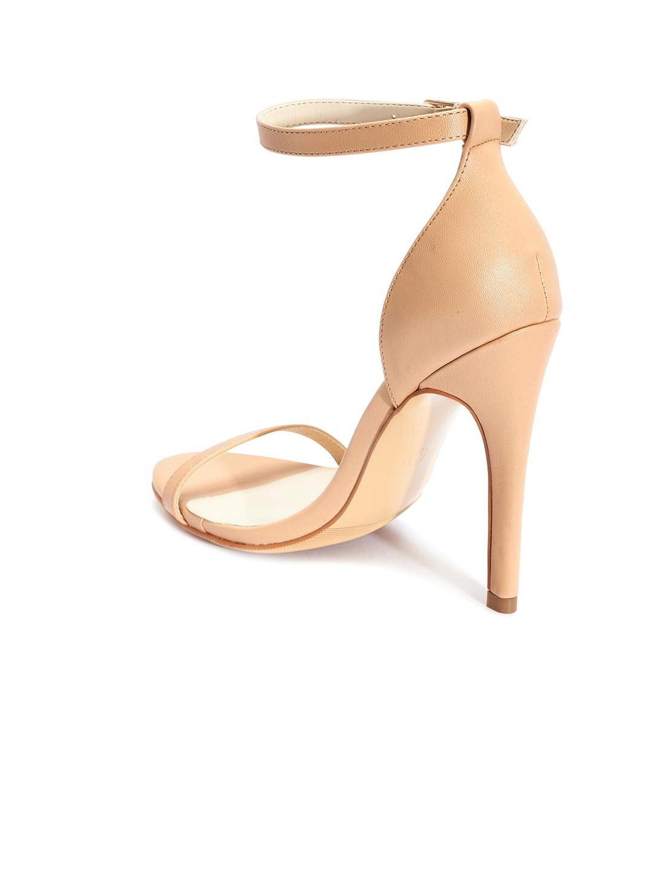 47960023abdb Buy Truffle Collection Women Beige Solid Heels - Heels for Women ...