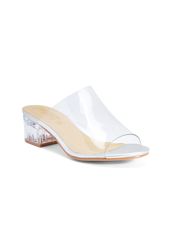 62676941b0 Buy Truffle Collection Women White Block Heels - Heels for Women ...