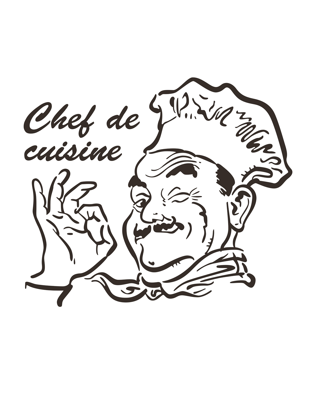 Buy Aspire Black Chef De Cuisine Wall Sticker   Decals And Stickers ...