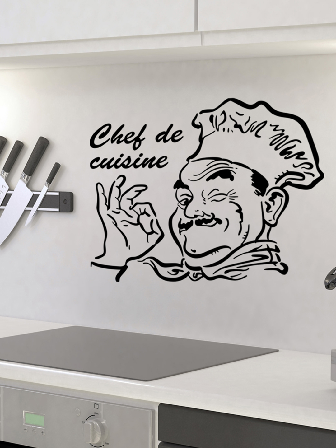 Aspire Black Chef De Cuisine Wall Sticker