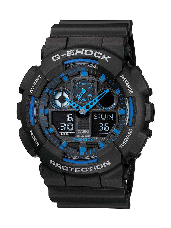 Casio G Shock Men Black Analogue and Digital watch G271 GA 100 1A2DR