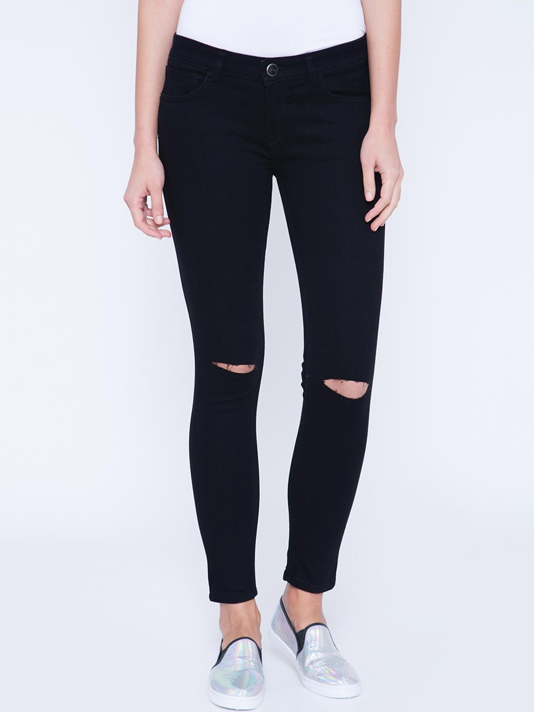 Tokyo Talkies Women Black Super Skinny Fit Stretchable Jeans