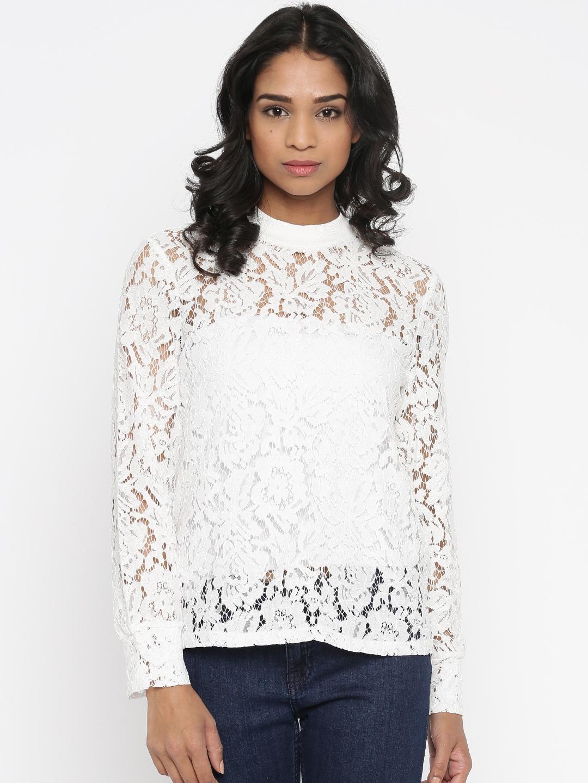 81a4c438048 Vero Moda White Lace Top