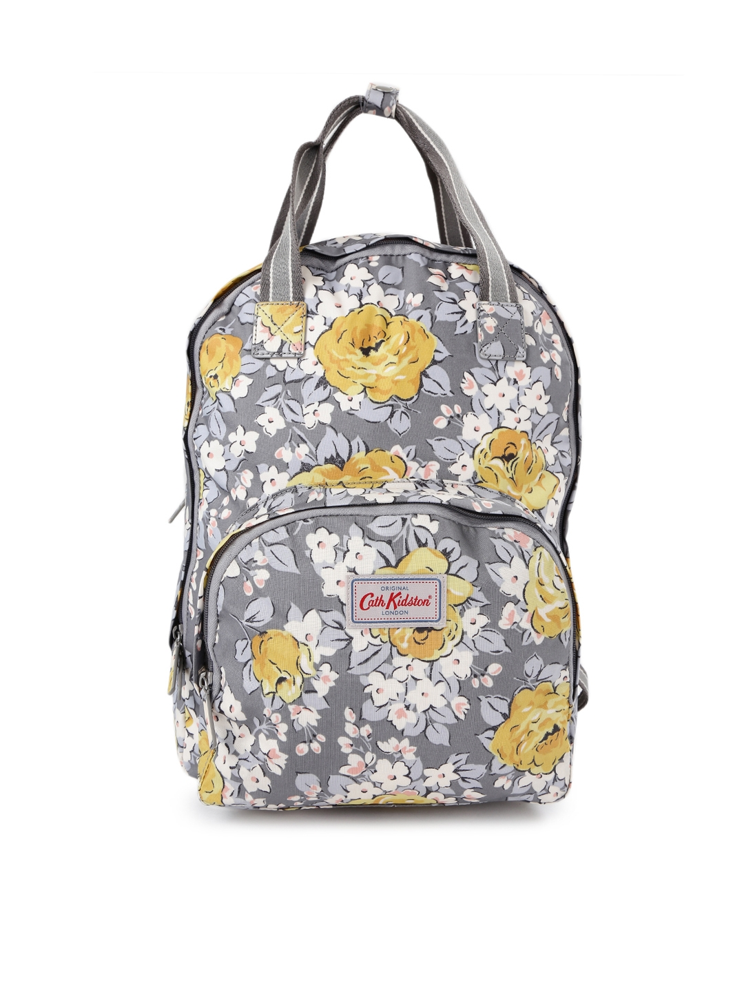 3f24f64dc8 Buy Cath Kidston Women Grey   Yellow Floral Print Backpack ...
