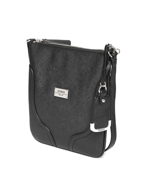 Buy GUESS Black Sling Bag - Handbags for Women 1749507   Myntra 3b7e4f52fe