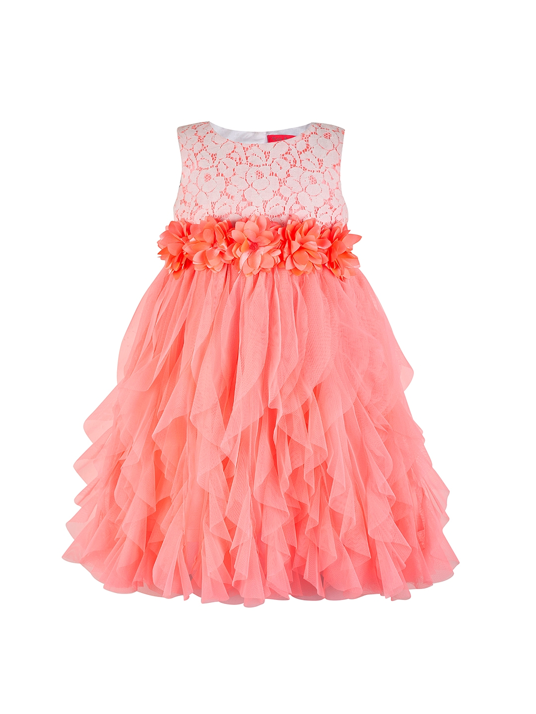 Buy Toy Balloon Kids Girls Coral Orange Lace Fit Amp Flare