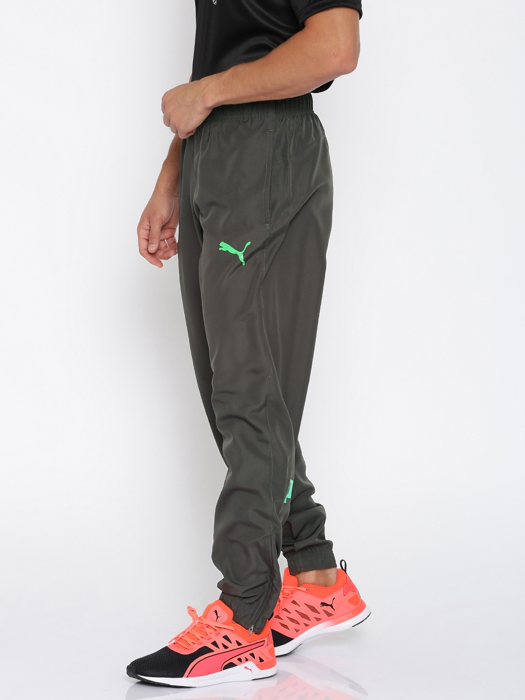 01632891f9eb Buy Puma Charcoal Grey ESS No.1 Woven Cl Track Pants - Track Pants ...