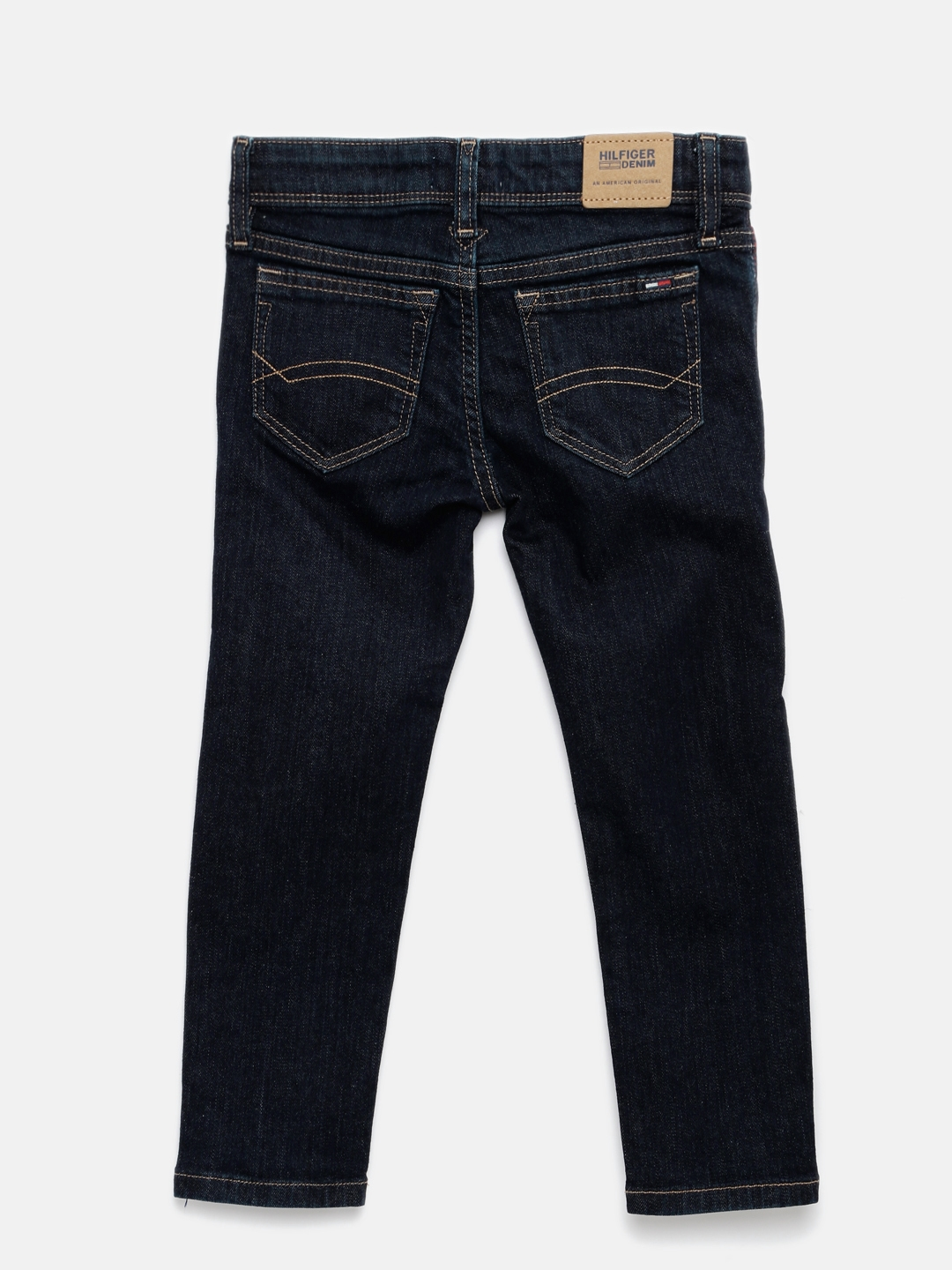378fb014 Buy Tommy Hilfiger Boys Blue Slim Fit Mid Rise Clean Look Jeans ...