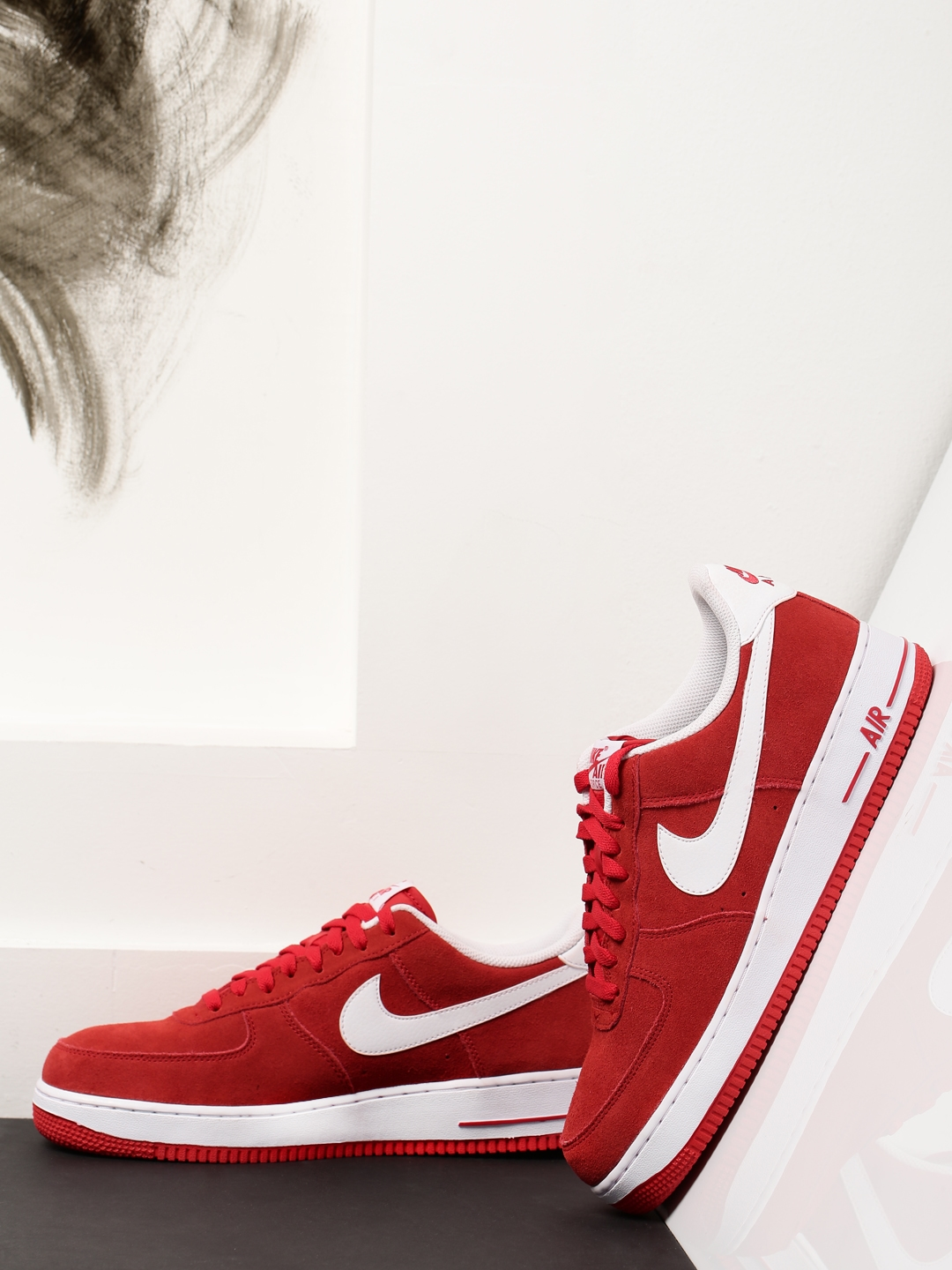 Buy Nike Men Red Air Force 107 Suede Sneakers - Casual Shoes for Men 1752710   5c4a04a8f