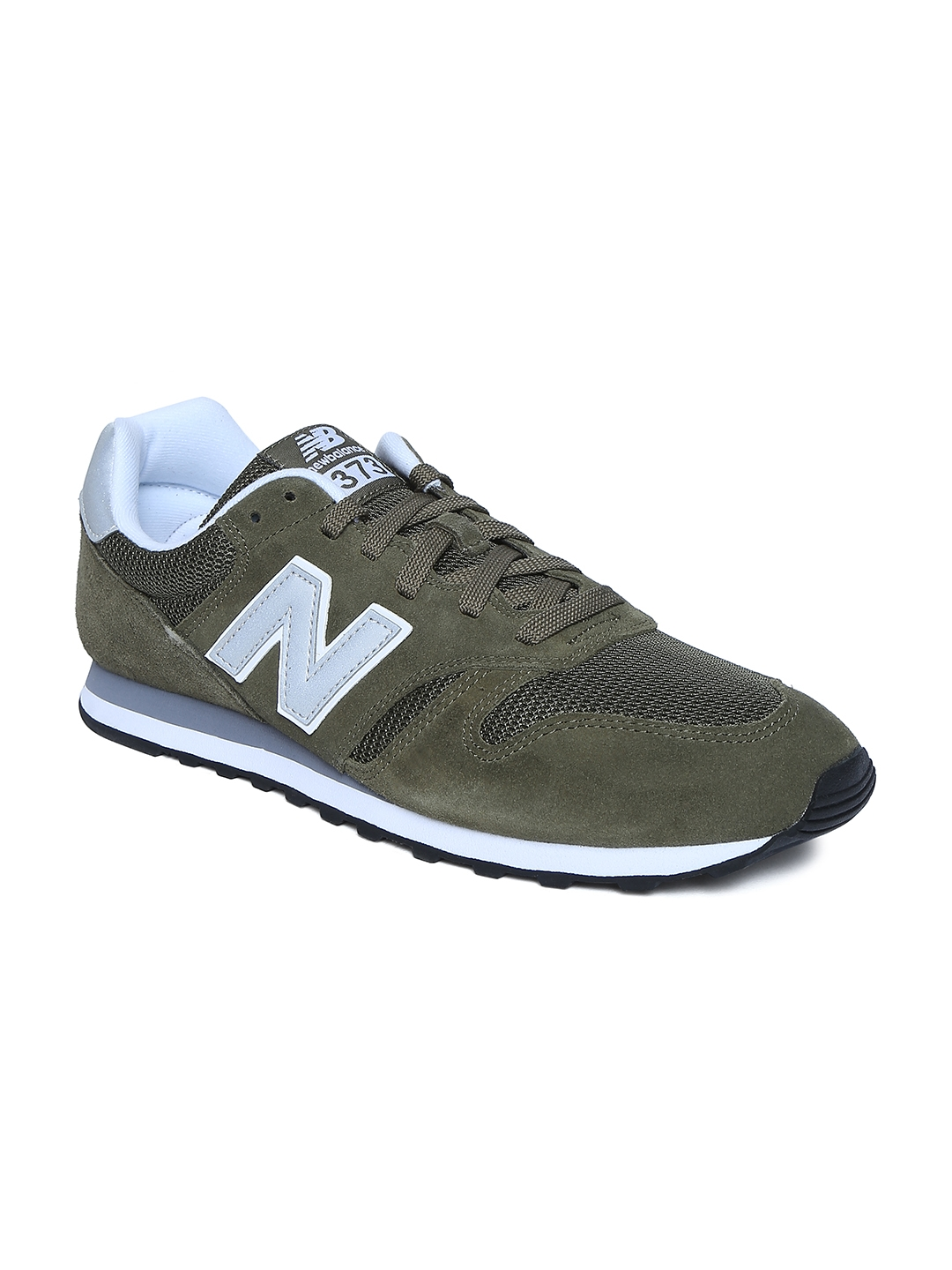 545561a16b816 Buy New Balance Men Olive Green 373 Sneakers - Casual Shoes for Men ...