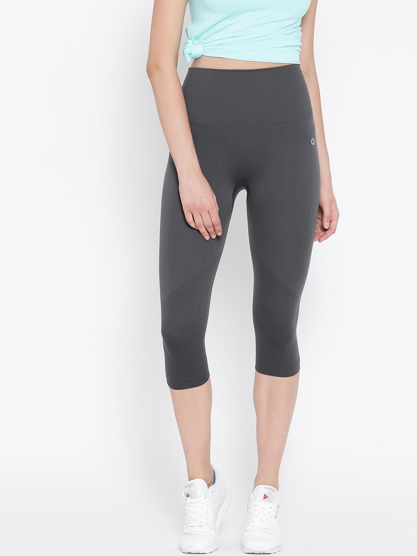 a98ef2fc6e242 Buy Amante Grey Activewear Capris - Capris for Women 1753260 | Myntra