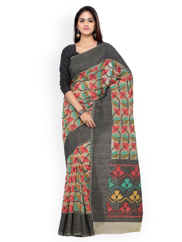 73823f1744970b Buy Inddus Multicoloured Banarasi Net & Art Silk Traditional Saree ...