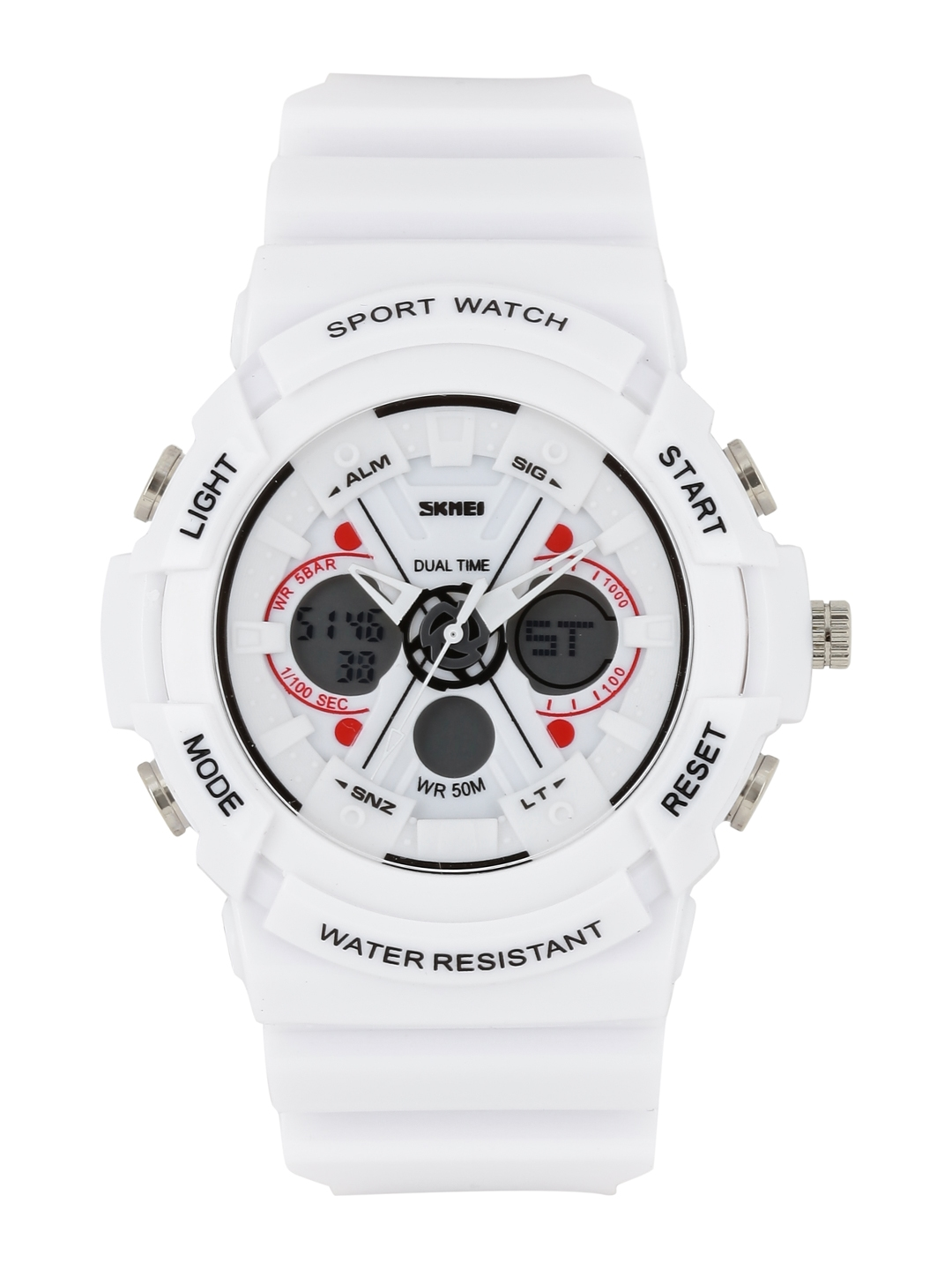3afe41c83 Buy Skmei Men White Analogue   Digital Sports Watch 990 WH - Watches for  Men 1755459