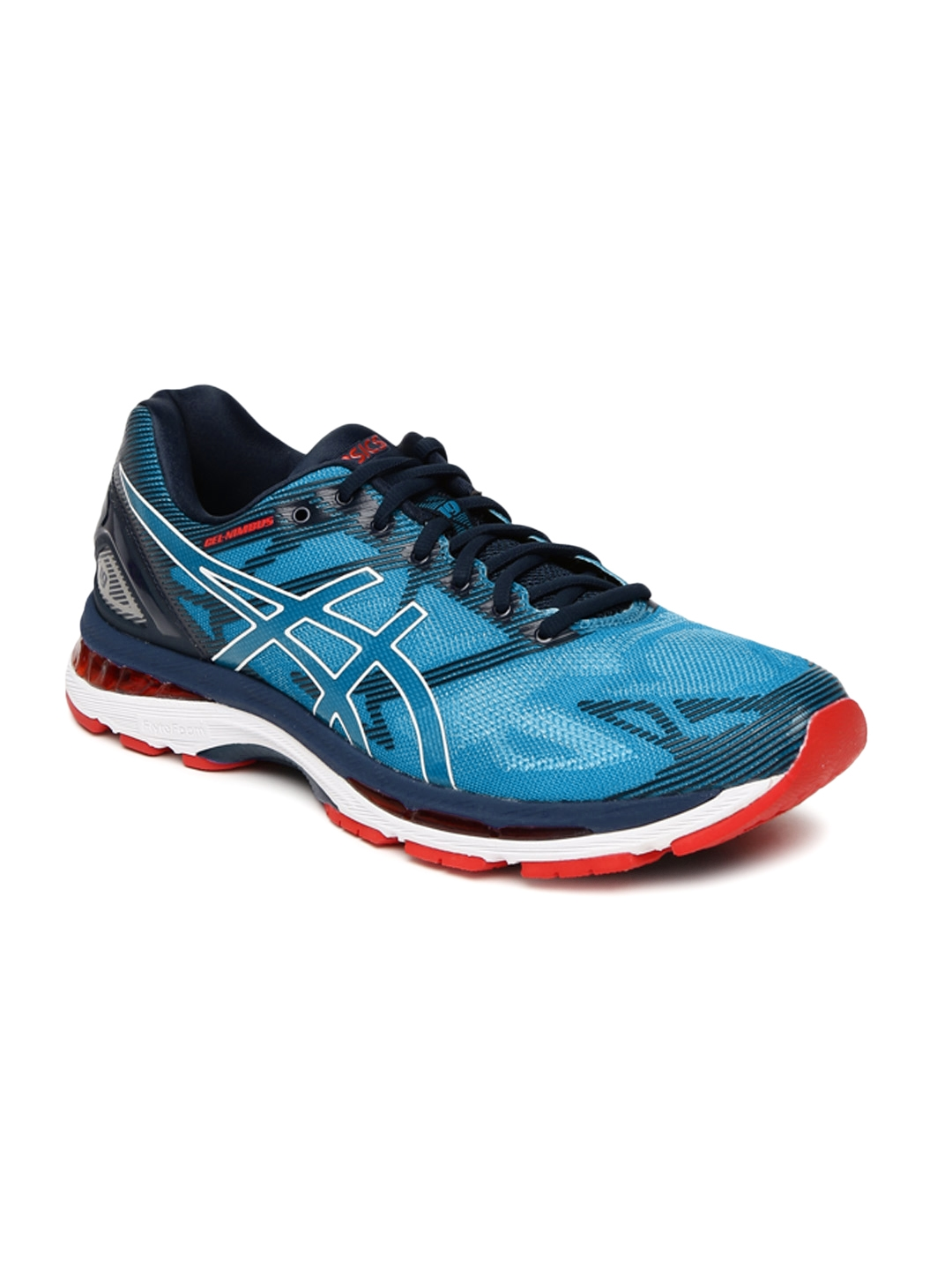 finest selection dfc34 31c7e ASICS Men Blue GEL-NIMBUS 19 Running Shoes