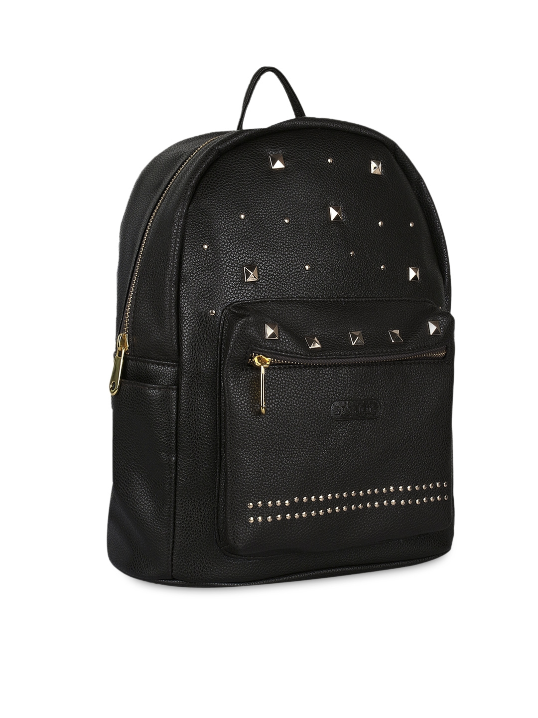 5fce1cb5954acf Buy Bags.R.us Women Black Faux Leather Studded Backpack - Backpacks ...