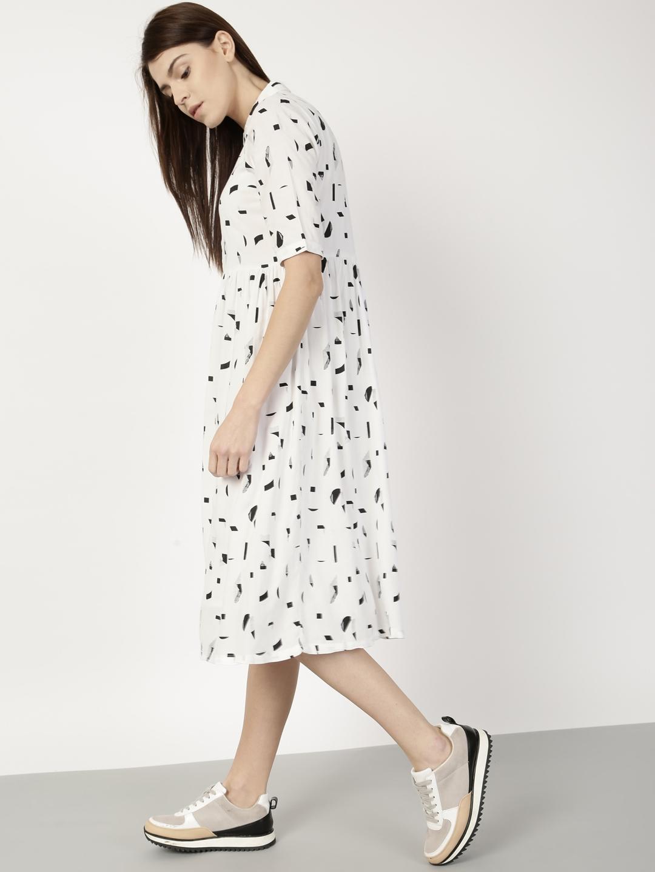 c51f6ab0d0f Buy Ether Women White Printed Shirt Dress - Dresses for Women ...